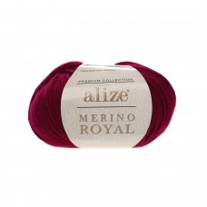 Пряжа Alize Merino Royal (100% шерсть) 50 г 100 м, 390 вишня