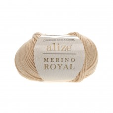 Пряжа Alize Merino Royal (100% шерсть) 50 г 100 м, 96 беж